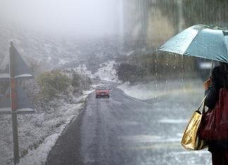 Καιρός: Βροχές, καταιγίδες με χαλάζι και χιονοπτώσεις