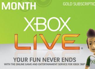Xbox Live Gold δωρεάν