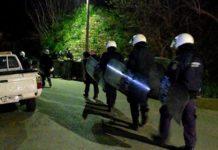 Ολονύκτιες συμπλοκές μεταναστών στη Χίο(BINTEO)