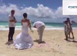 Δείτε τι έκανε ένας γαμπρός κατά τη διάρκεια του γάμου του!