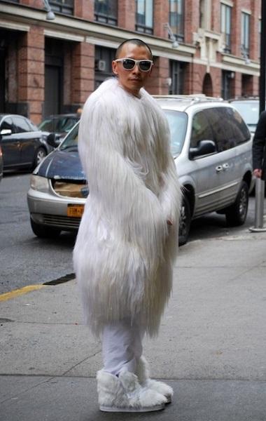 ανδρική γούνα αστείο ντύσιμο