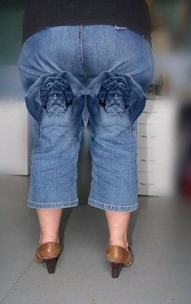 αστεία γυναικεία jean παντελόνια