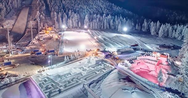 λαβύρινθος από χιόνι Πολωνία